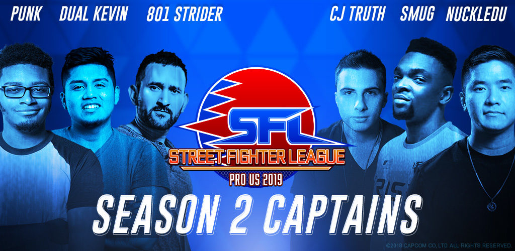 Street Fighter League: US-Pro 2019 Season 2 Captains Confirmed